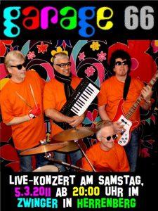Garage 66 in Erstbesetzung (im Jahr 2010/2011) mit Hasso Kraus, Madjid Madjidi, Konny Goecke und Wolfgang Keune (von links)